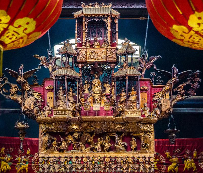 Templo Sin Sze Si Ya Chinatown Kuala Lumpur Malasia